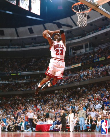 It wasn't quite MJ, but Moon's takeoff from the free-throw line was still pretty sick...